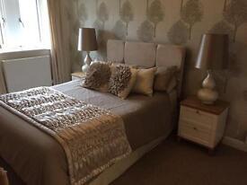 Double divan bed & headboard