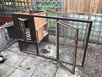 Partially dismantle chicken coop.