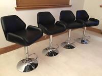 Leather breakfast bar stools