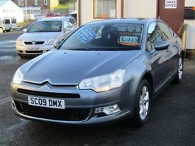 09/09 Citroen C5 VTR+ 2.2 Diesel 4dr, Metallic Grey**Full Stamped Service History, MOT August 2018**