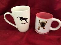 Pair of cat mugs