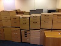 3 Drawer Wood Effect Pedestal / Filing Cabinet - 50 Available