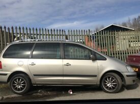 FORD GALAXY SHARAN ALHAMBRA DRIVER SIDE REAR DOOR SILVER 2000-2006