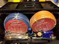 New Contractors Gas Welding Cutting Kit and Gas Bottle Regulator Oxygen & Propane Portable Set