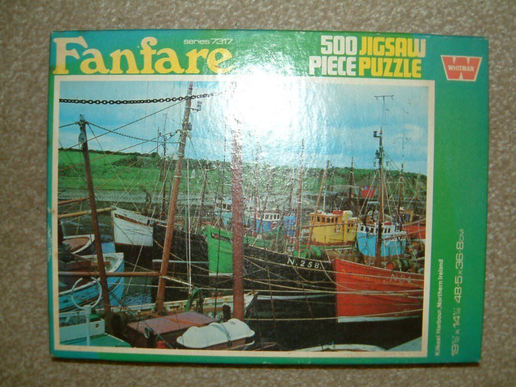Second hand 500 piece puzzle of Kilkeel Harbour Northern Ireland. Good clean condition