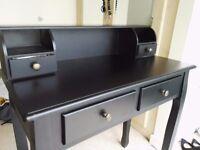 black vanity make up table w/4 drawers