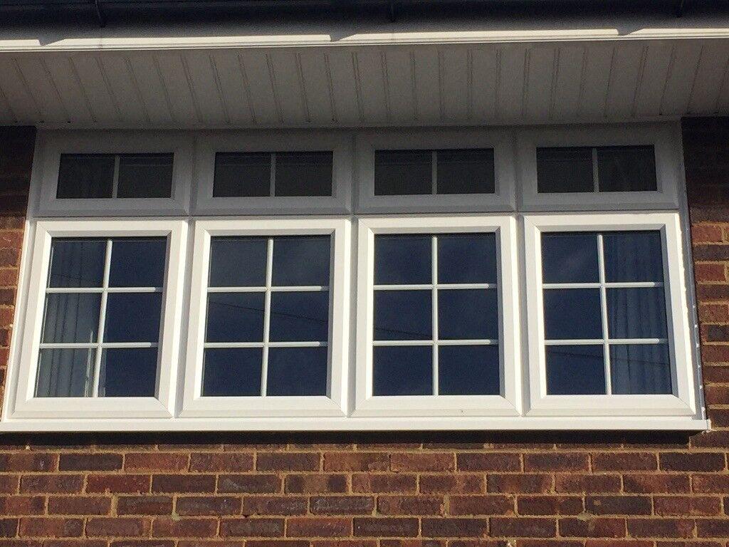 5 georgian double glazing windows white upvc equal sight. Black Bedroom Furniture Sets. Home Design Ideas
