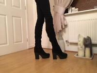 Size 6 over the knee boots