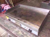 FLAT TWO BURNER COMMERCIAL BBQ CATERING FASTFOOD GRILL MACHINE MEAT OUTDOORS SHOP RESTAURANT STEAK