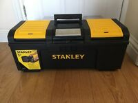 """STANLEY 24"""" ONE TOUCH TOOL BOX BRAND NEW CONSTRUCTION DIY COLLECT ROMFORD RM5 3EJ TOOLS PLUMBER TOOL"""