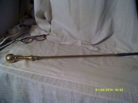"""A BEAUTIFUL """" BRASS & IRON """" POKER an ANTIQUE but LIKE NEW no wear at all ++"""