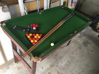 pool or snooker table