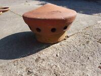 Terracotta ventilation terminal flue vent / chimney cowl / cover