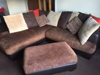 Harveys corner sofa and footstool