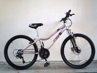 "(2202) 24"" 13"" APOLLO KRYPT GIRLS MOUNTAIN HARDTAIL BIKE BICYCLE; Age: 8-12; Height 130-150 cm"