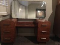 Art Deco vintage retro dressing table and wardrobe set