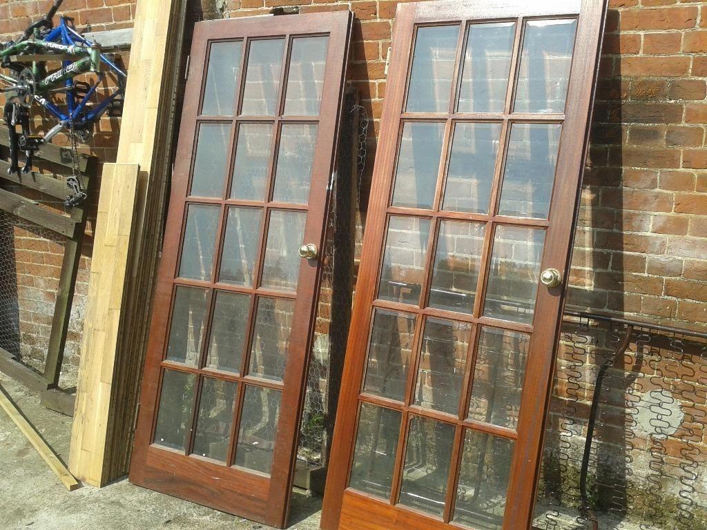 Internal or external patio french pair wooden door for Solid patio doors