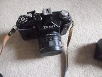 Zenit original collectors camera with flash and case