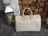 Real Leather Louis Vuitton Speedy Keep All Travel Bag 35cm Gym Bag Womens Handbag Neverfull Bag