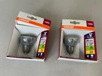 2 x OSRAM GU10 LED bulbs