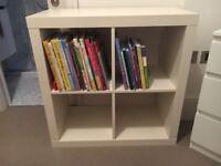 IKEA KALLAX shelf (oak effect) painted in white 77cm x 77cm