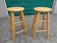 Pine kitchen stools