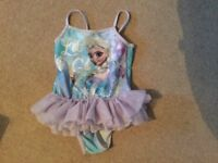 GIRLS NEXT FROZEN SWIMSUIT, AGE 4-5, IMMACULATE CONDITION