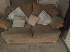 2 cream sofas for sale