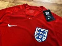 England World Cup football shirts, all sizes, available home and away! Real and new with tags!!