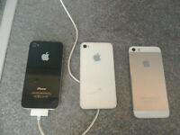 3 I-PHONES FOR SALE £80 ONO OFFERS (SPARES OR REPAIR SOLD AS SEEN)
