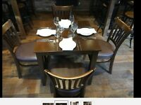 *** bargain ** Joblot restaurant cafe pub solid wood andy Thornton chairs furniture