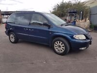 Chrysler voyager 2.5 crd 7 seater spares or repairs