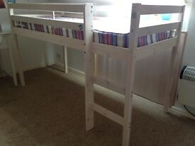 Wooden mid sleeper bed