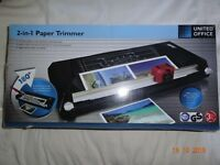 2 in 1 Paper Trimmer and Guillotine By United Office