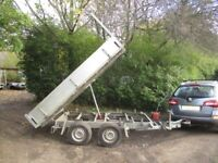 10-0 X 6-0 TWIN AXLE (2600KG BRAKED) HYDRAULIC TIPPER TRAILER....