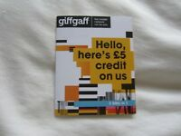 New Giffgaff SIMS Card