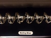 Sterling silver .925 galloping horses bracelet