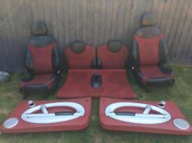 BMW mini R50-R53 Red Half Leather Full set Seats