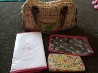 Yummy mummy changing bag and matching purse