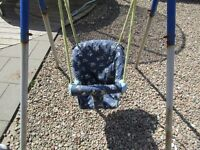 kids swing with fabric cover