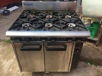 Blue seal Cooker and oven 6 Burner