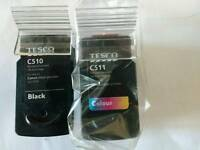 Canon Pixma printer ink cartridges, multi pack of black C510 and colour C511.