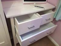 White wardrobe & Chest of Drawers