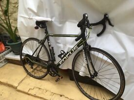 Focus road bike, large frame, black/ lime green