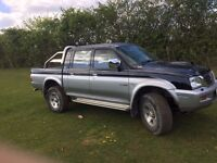 Mitsubishi l200 4x4 pickup truck LONG MOT lots of extras PRICE REDUCED