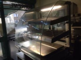 COMMERCIAL CATERING HOT FOOD DISPLAY CABINET BAKERY CAFETERIA RESTAURANT KITCHEN BAR SHOP TAKE AWAY