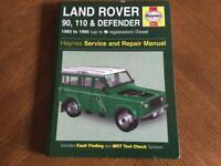 Haynes Manual - Land Rover 90, 110 & Defender 1983 to 1995