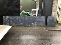 3 black boards £20 for large-£10 for small