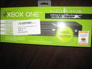 Collective Minds Media Hub for Microsoft Xbox One. External HDD Enclosure with USB. Expand ur Hard Drive Storage. NEW