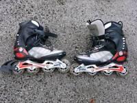 Airwalk in line skates size 7